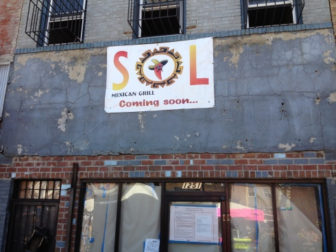 Future Site of Sol Mexican Grill