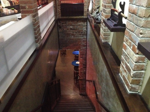 Stairs to First Floor at Hikari Sushi and Sake Bar