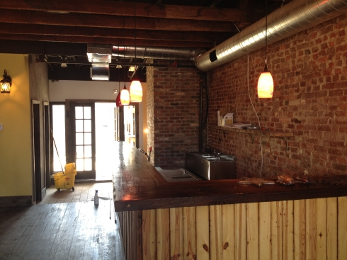 Upstairs Bar and Doors out to Patio at Sol Mexican Grill