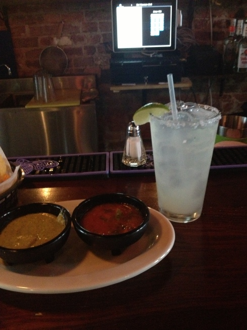 Margarita with Chips and Salsa at Sol Mexican Grill