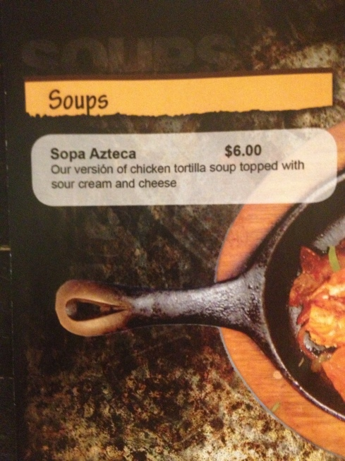 Soups at Sol Mexican Grill