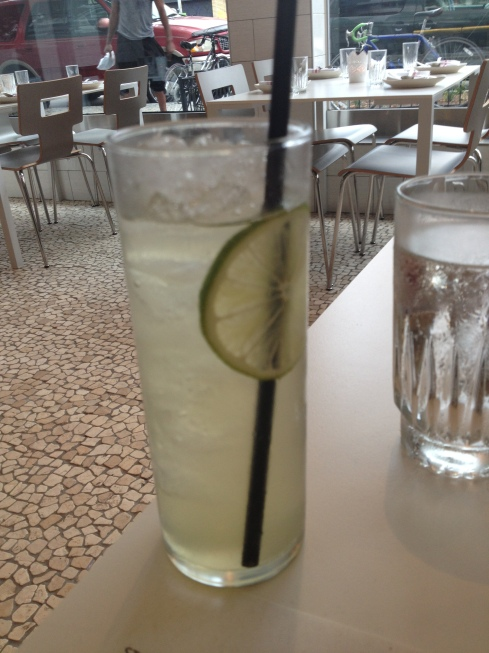Salt Cured Key Lime Soda and Gin Cocktail at Doi Moi