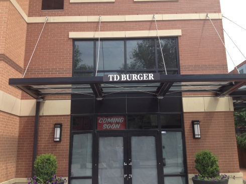 Signage up at TD Burger in NoMa