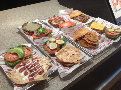 Various Burgers and Chicken Sandwiches at Smashburger