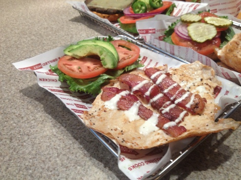 Chicken Avocado Club at Smashburger