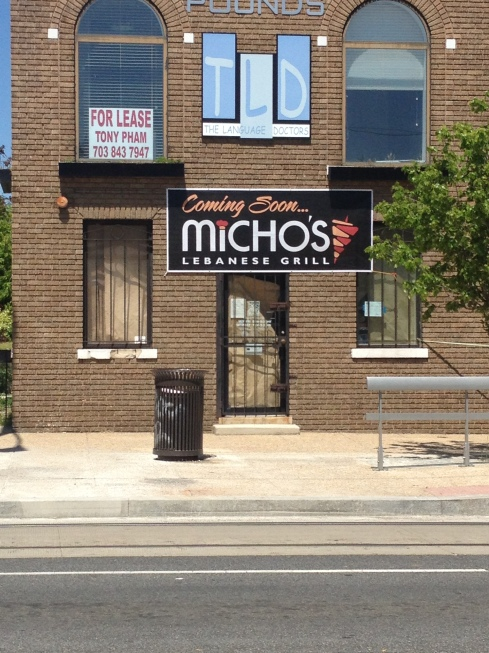 Signage Posted for Micho's Lebanese Grill on H Street