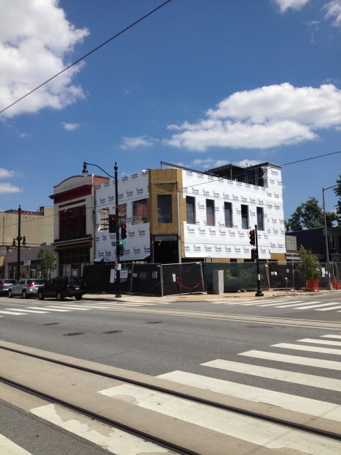 Construction at Ben's Chili Bowl on H Street