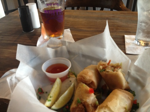 Crawfish Spring Rolls at Po Boy Jim