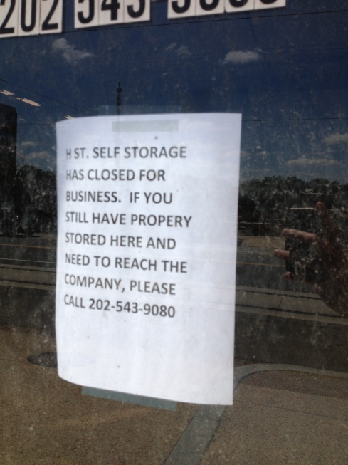 H Street Self Storage Closed