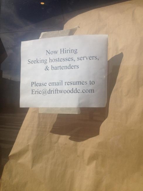Driftwood Kitchen Hiring