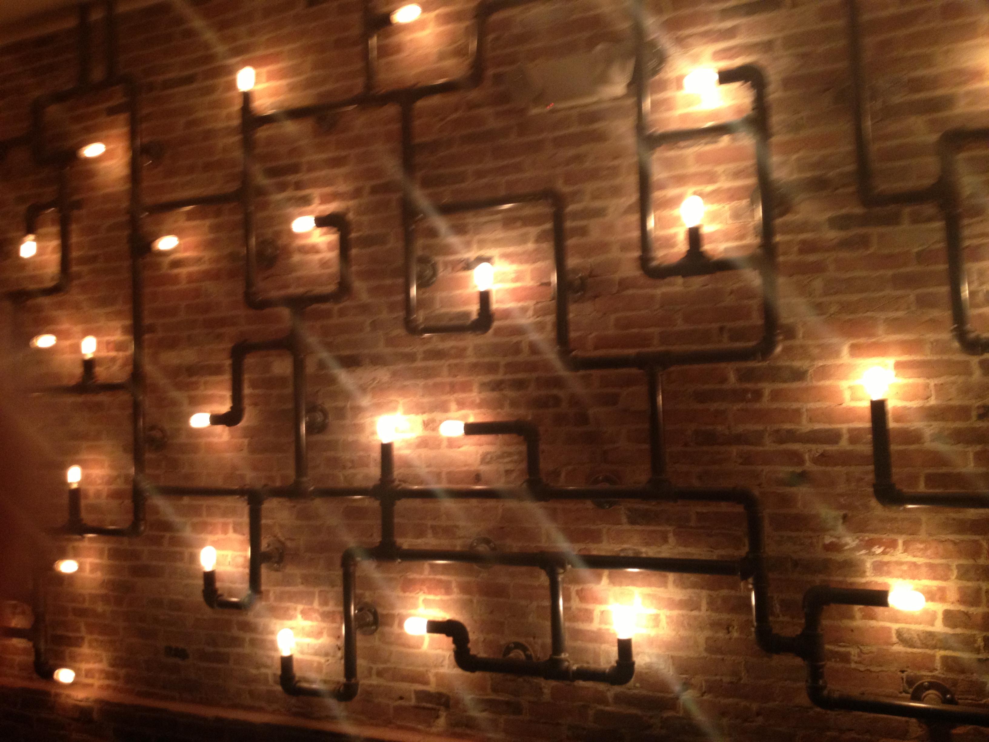 new light fixture at driftwood kitchen - H Street Kitchen