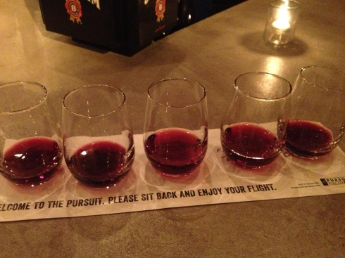Wine Flight at Pursuit Wine Bar