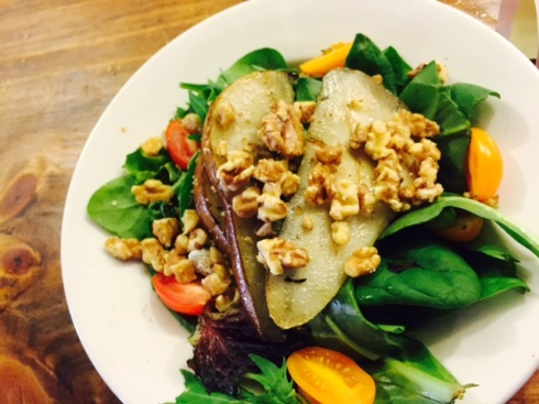 Pear and Walnut Salad at Po Boy Jim's