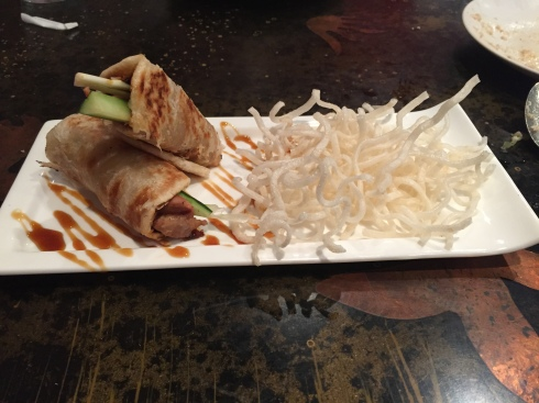 Duck Roll Appetizer at IMM Thai