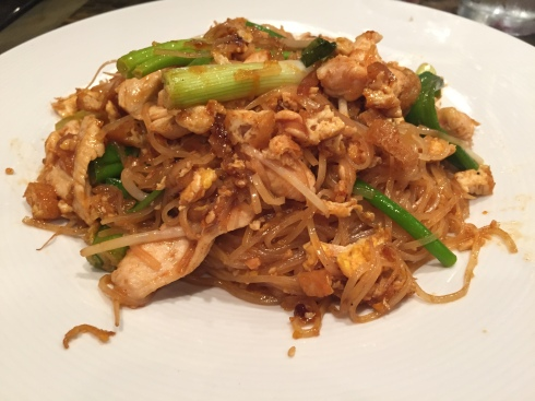 Pad Thai with Chicken at IMM Thai