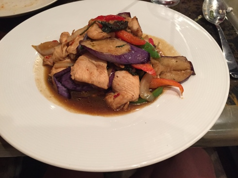 Spicy Eggplant with Chicken at IMM Thai
