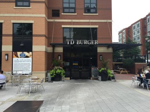 Patio at TD Burger