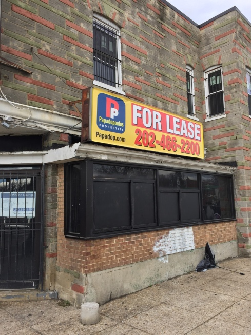 For Lease Signs Outside 1380 H Street