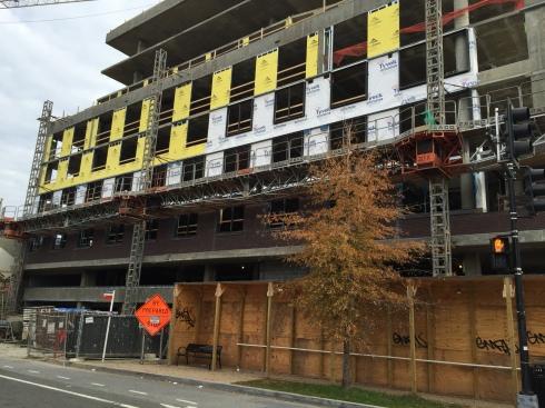Exterior Construction at Future Apollo Building on H Street