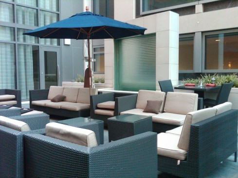Courtyard in Restaurant Space at NoMa Hilton Garden Inn