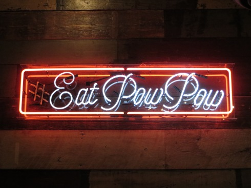 Sign Inside of Pow Pow (1253 H Street)
