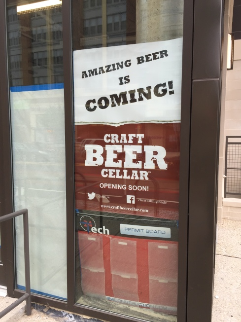Signage for Craft Beer Cellar at 301 H Street
