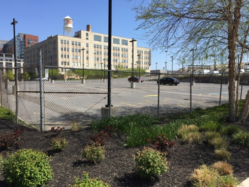 Parking Lot at 1st and L Streets That Will Be Transformed into Wunder Garten