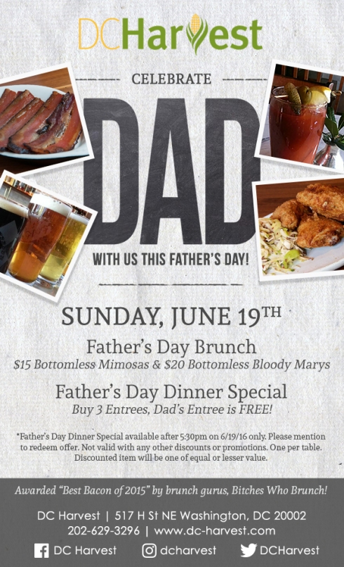 DC Harvest Father's Day Specials