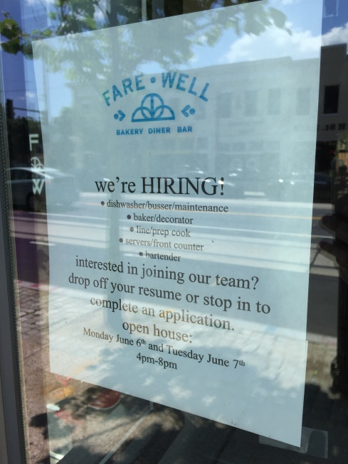 Fare Well Now Hiring on H Street
