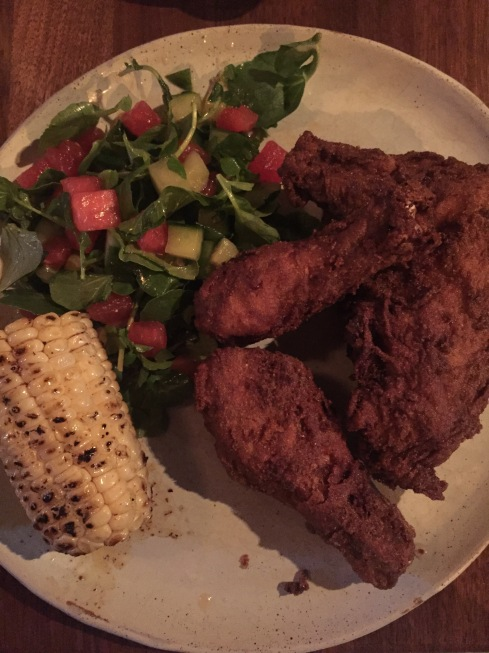 Old Bay Fried Chicken with Summer Sides at DC Harvest