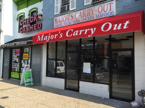 New Exterior of Major's Carryout on H Street