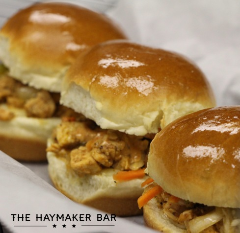 Spicy Chicken Slider Special at The Haymaker Bar