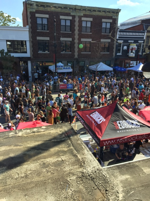 2016 H Street Festival from the 2nd Floor of Red Rocks