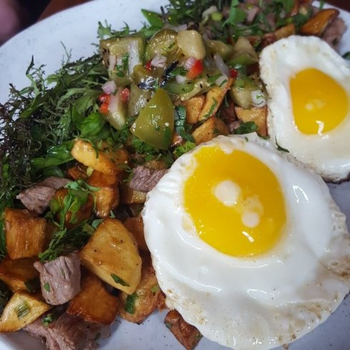 New Tri Tip Steak and Eggs at DC Harvest