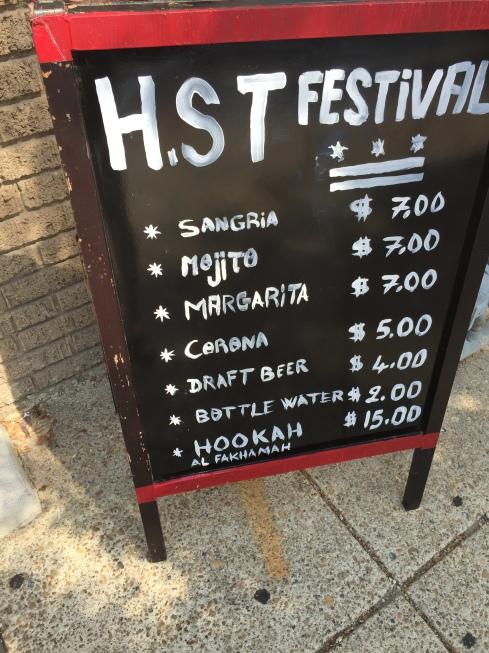 H Street Festival Menu for Micho's Lebanese Grill