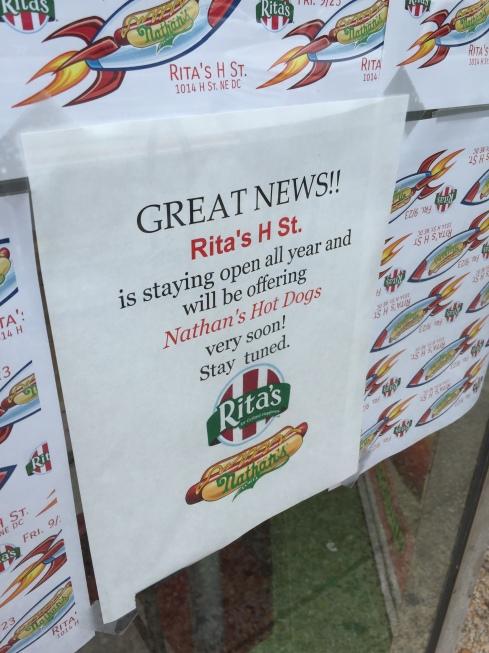 Rita's on H Street