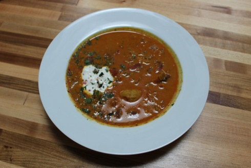 Ras el Hanout Soup at Sospeso